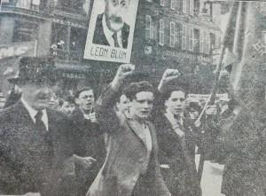 Manifestation du Front populaire à Brest, 14 juillet 1936, photo DR