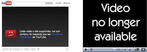Capture d'écran de vidéos n'étant plus accessibles