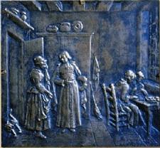L'abbé de l'Epée, la rencontre. (Statue de l'abbé de l'Epée, Cour d'honneur de l'INJS de Paris.)