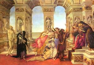 Botticelli, La Calomnie d'Apelle, vers 1495.