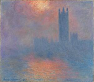 Londres, le Parlement. Trouée de soleil dans le brouillard, Claude Monet, 1904, Musée d'Orsay (Paris)