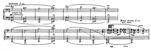 premières mesures du Château de Barbe-Bleue de Béla Bartók