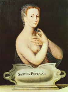 Anonyme, Ecole de Fontainebleau, Portrait de Sabina Poppea (XVIe siècle)