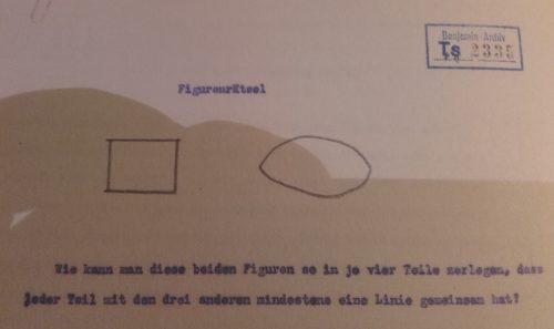 """extrait de """" Walter Benjamin.Archives"""" Klincksieck, 2011."""